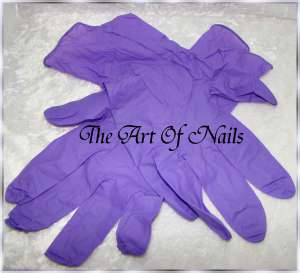 The Art Of Nails Nitril Handschuhe Lila 10 Stück